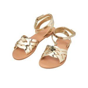 NWOT Crazy 8 Metallic Strappy Sandals